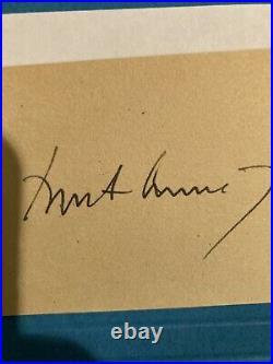 John f kennedy signed Paper