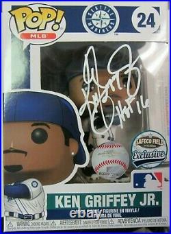 Ken Griffey Jr. Autographed Funko Pop Figure with COA SGA Mariners HOF 16 Inscri