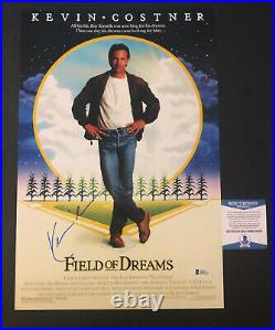 Kevin Costner Signed Field Of Dreams 12x18 Photo Authentic Beckett 2