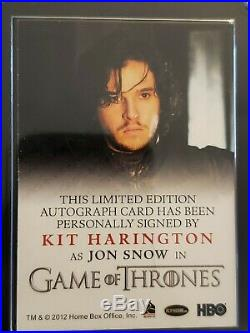 Kit Harington signed card auto AUTOGRAPH 2012 Game of Thrones