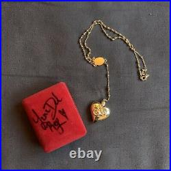 Lana Del Rey Rosary Necklace with Autographed Box
