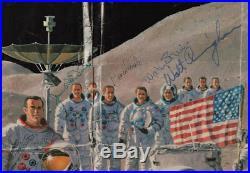 Large Poster Signed by 21 Apollo Astronauts Including Apollo 11 Crew RR COA