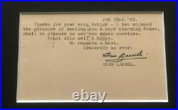 Laurel and Hardy photo Stan Laurel signed postcard UACC RD autographed