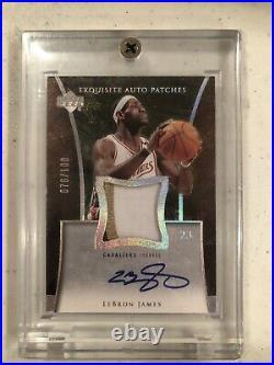 Lebron James 2004-05 Exquisite Collection Auto Patches /100 Cleveland Cavaliers