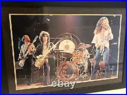 Led Zeppelin signed poster Jimmy Page Robert Plant John Paul Jones John Bonham