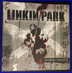 Linkin Park Signed Hybrid Theory Poster Promo Chester Bennington Mike Shinoda