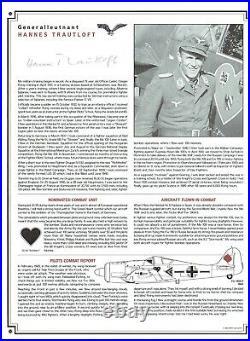 Luftwaffe Profile Album with 24 original WWII Luftwaffe Aces Autographs