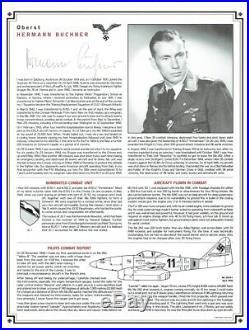 Luftwaffe Signed Profile Album 24 Luftwaffe Aces inc Hartmann, Galland, Rall