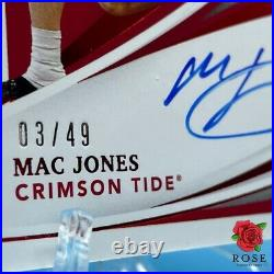 Mac Jones 2021 Immaculate Collection Ruby RPA On Card Auto Patch Rookie Card /49
