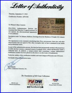 Malcolm X Autograph Letter Signed Circa 1955