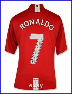 Manchester Utd Shirt Signed By Cristiano Ronaldo 100% Authentic With COA