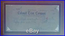Marilyn Monroe Productions Autographed Signed Business Check Matted Framed NICE