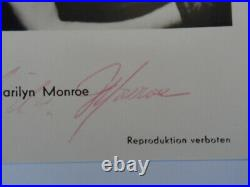 Marilyn Monroe Scarce Authentic Original Hand Signed Autograph Vintage Card