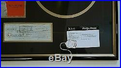 Marilyn Monroe Signed Check April 1, 1960 Framed W Display From Julien's Auction