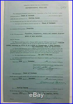 Marilyn Monroe Signed Release Contract Re River Of No Return 1953 Coa Beckett