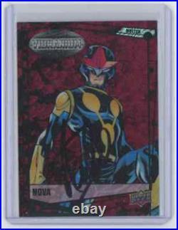 Marvel Cards Nova Signed Autographed By Stan Lee