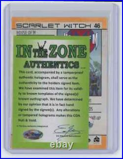 Marvel Cards Scarlet Witch #46 Signed Autographed By Stan Lee