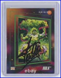 Marvel Cards The Hulk Signed Autographed By Stan Lee