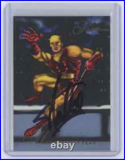 Marvel Cards The Man Without Fear #14 Signed Autographed By Stan Lee