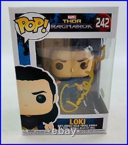 Marvel Thor Ragnorak Loki Funko POP Autographed by Tom Hiddleston