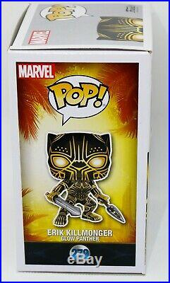 Michael B Jordan Erik Killmonger Autographed Glow Black Panther Funko POP PSA