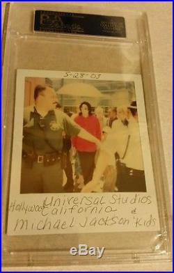 Michael Jackson withKids Autographed Polaroid Photo PSA/DNA Authenticated