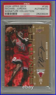 Michael Jordan 09/10 Upper Deck Signature Collection Autograph PSA Authentic