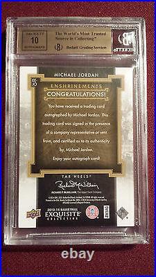 Michael Jordan 2013 Exquisite Collection Enshrinements Auto JSY#23/23 BGS 9.5/10