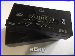 Michael Jordan Autographed 2007/08 UD Exquisite Collection Box, 15 Of 23, UD COA