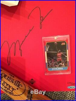 Michael jordan signed pro cut jersey, autographed book uda & Bball, Bat, Basebal