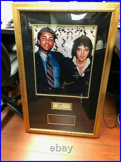 Muhammad Ali Autographed Elvis Presley Unused Ticket+certificate Of Authenticity