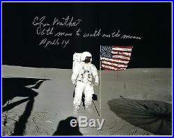 NASA Edgar Mitchell Apollo 14 Signed Lunar Surface Photo
