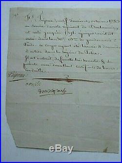 Napoleon Bonaparte Early Signed Document With His Italian Name Buonaparte Coa