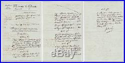 Napoleon I. Excellent Document signed Bonaparte