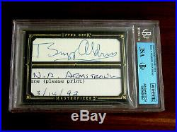 Neil Armstrong Buzz Aldrin Nasa Apollo 11 1st & 2nd Men Signed Auto Ud Card Jsa