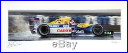 Nigel Mansell SIGNED Williams Formula 1 FW14B Art Giclee Anthony Dobson 100x50cm