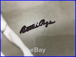Original Signed 8x10 Photo Sexy Pinup Girl Bettie Page Bunny Yeager Autograph Fh