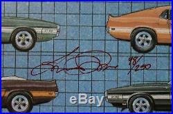 Original Signed Autograph Carroll Shelby Mustang Cobra GT40 SAAC #98/250 Poster