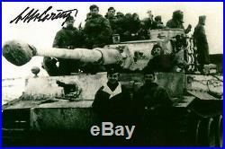 Otto Carius signed autograph WW II German Tank Ace 150 victories LOOK