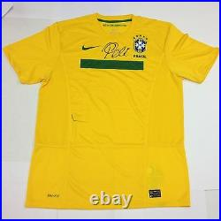 PELE AUTOGRAPHED BRASIL JERSEY Signed by HOF Soccer Legend Collectible