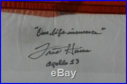 Parachute Signed Our life insurance by Fred Haise (Apollo 13) Astronaut withCOA