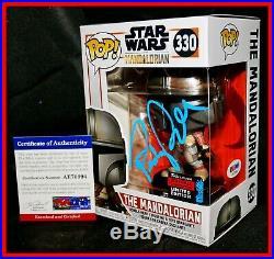 Pedro Pascal Signed Star Wars Mandalorian Autograph Exclusive Funko POP PSA JSA