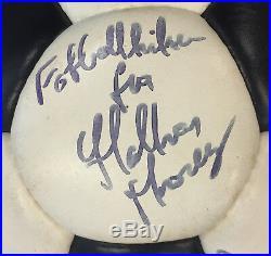 Pele signed ESCAPE TO VICTORY England FOOTBALL & Photo UACC RARE autographed x20