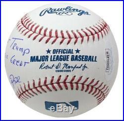 Pete Rose Signed President Trump Make America Great Again MLB Baseball JSA
