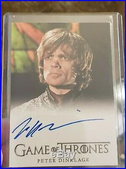 Peter Dinklage Season 4 signed card auto AUTOGRAPH Game of Thrones