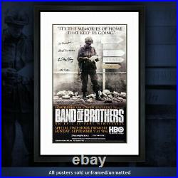 Poster #5 Band of Brothers Autographed by 4 Easy Company 101st Airborne veterans