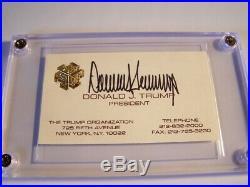 President Donald Trump Autographed Business Card Vintage 1980's Near Mint