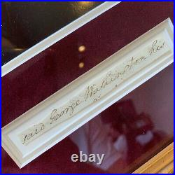President George Washington Signed Autographed Cut Signature Full Name JSA COA