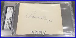 President Ronald Reagan Signed Autograph PSA/DNA Authenticated