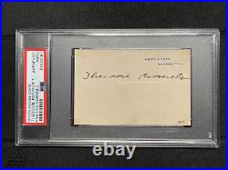 President Theodore Teddy Roosevelt WHITE HOUSE Card Signed Auto PSA/DNA